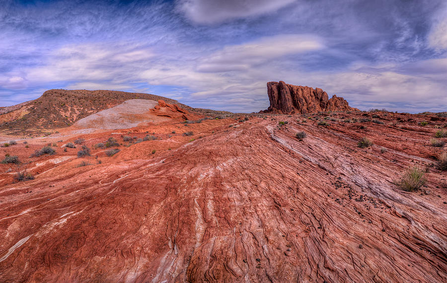 Panoramic Photograph - Into The Valley by Stephen Campbell