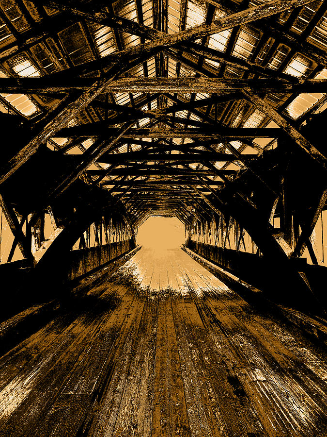 Sepia Photograph - Into The Void by Mike Greco