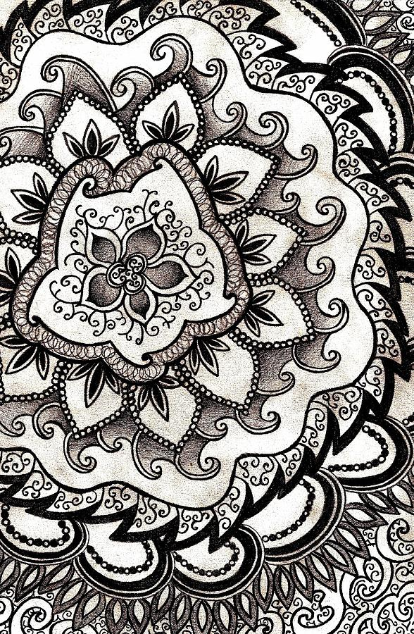 Annabella 67 Art Line Design : Intricate swirl drawing by bonnie leeman