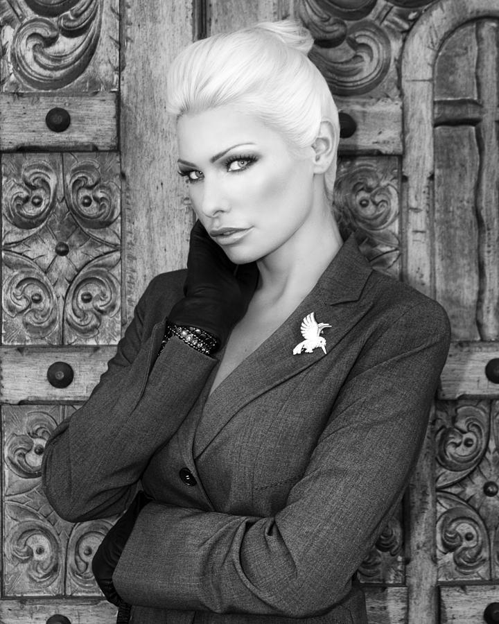Blonde Photograph - Intrigue Bw Fashion by William Dey
