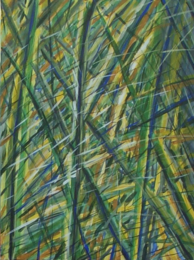 Green Grass Painting - Intrigue by Livio Lopedote