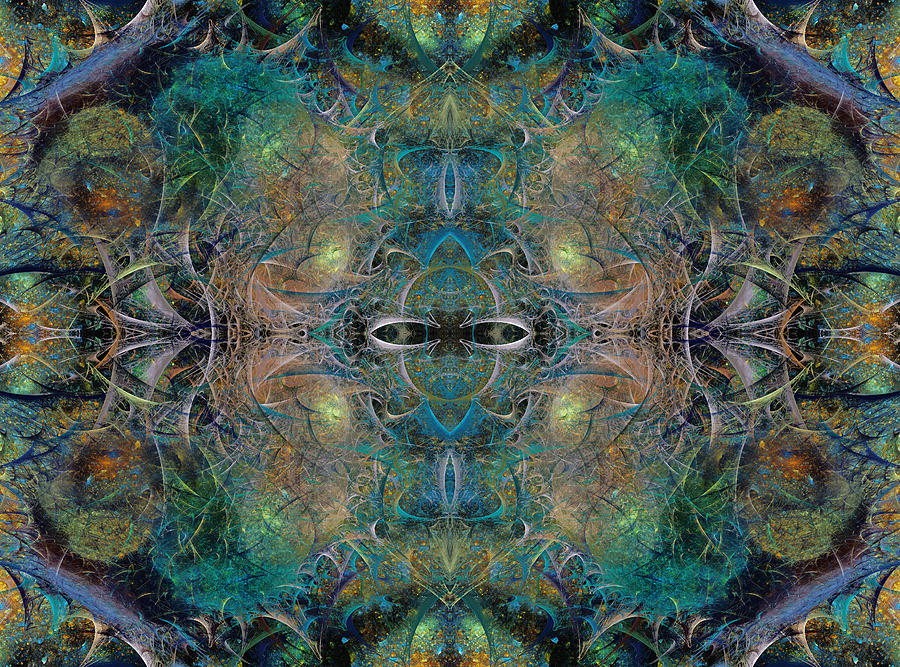 Fractal Digital Art - Intrigue Of Mystery Four Of Four by Betsy Knapp