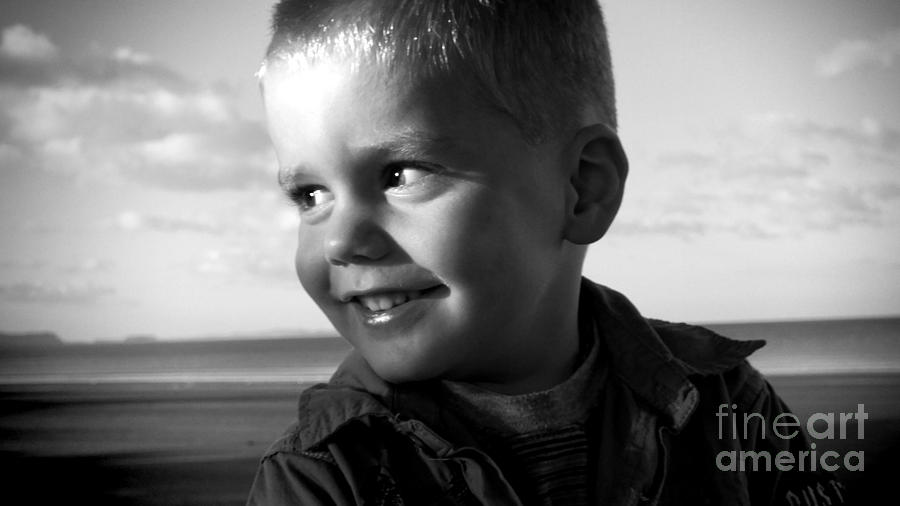 Boy Photograph - Introducing Max by Karen Lewis