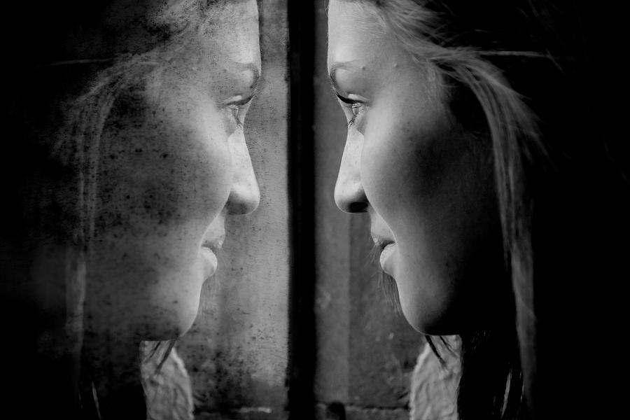 Self Reflection Photograph - Introspection by Lisa Knechtel