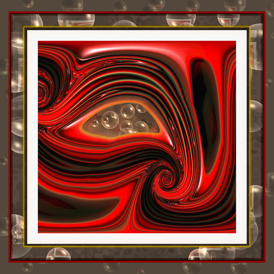 Abstract Digital Art - Introspection by Wendy J St Christopher