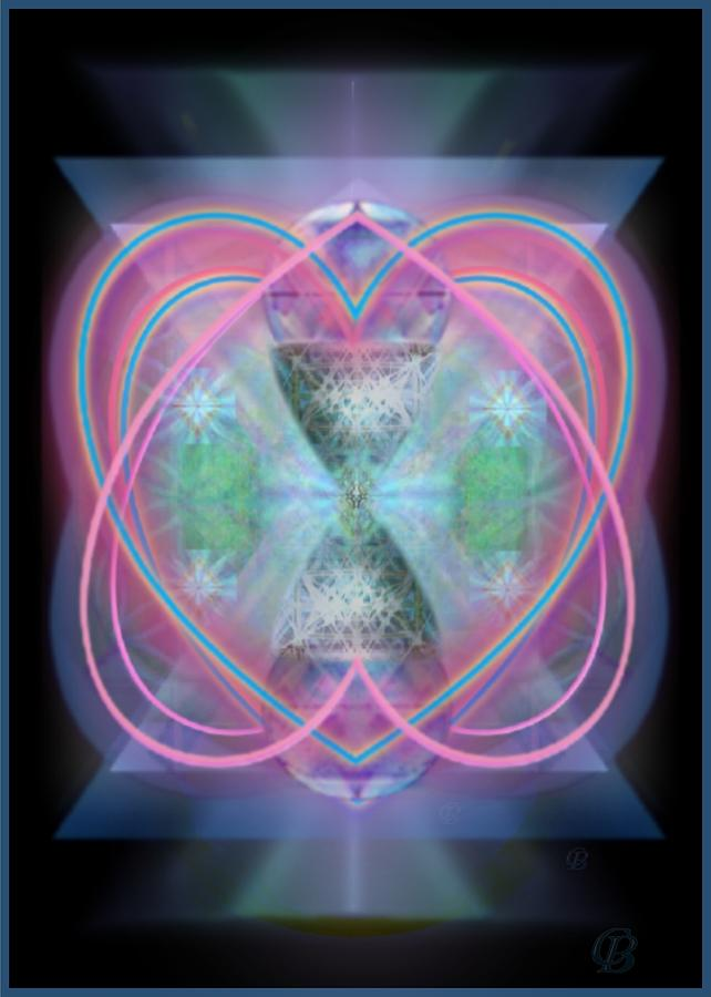 X7 Digital Art - Intwined Hearts Chalice Enveloping Orbs Vortex Fired by Christopher Pringer