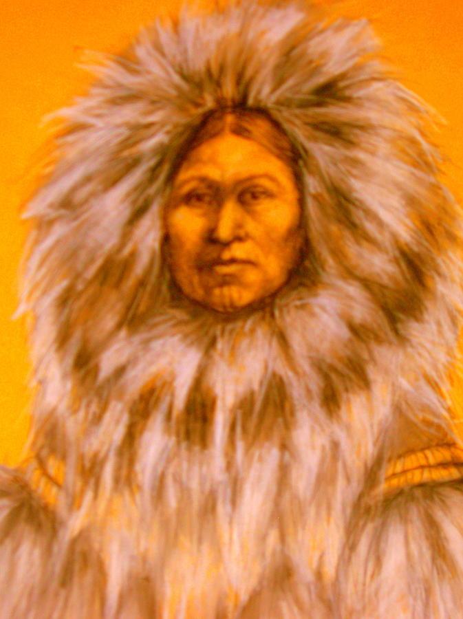 Inuit Woman Pastel by Johanna Elik