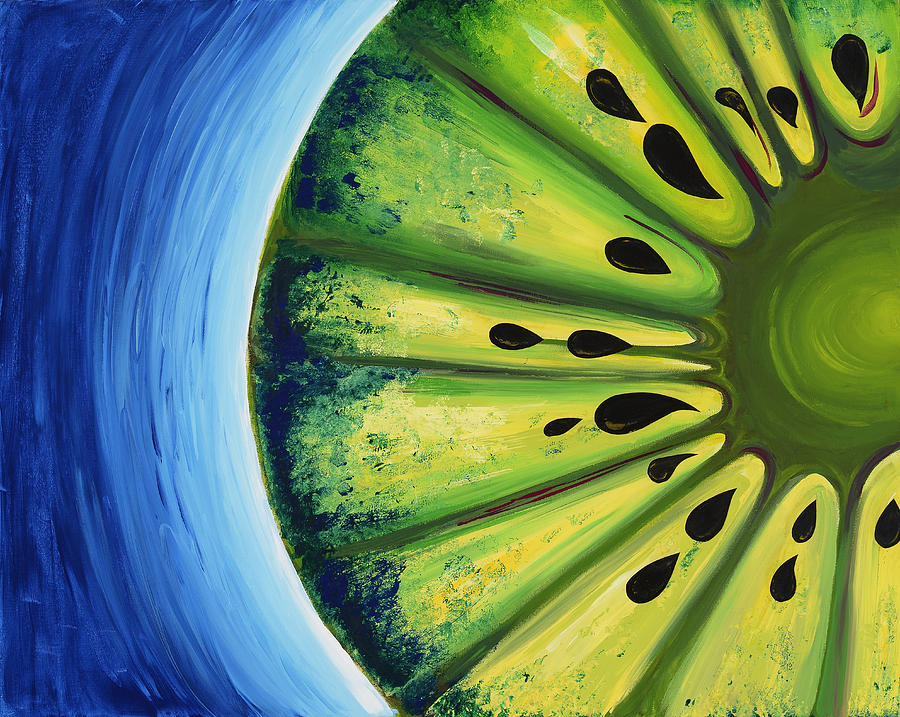 Kiwi Painting - Inverted Kiwi by Alexandra Kushman
