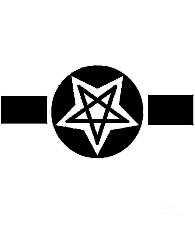 Inverted Digital Art - Inverted Wicca Military Symbol by Frederick Holiday