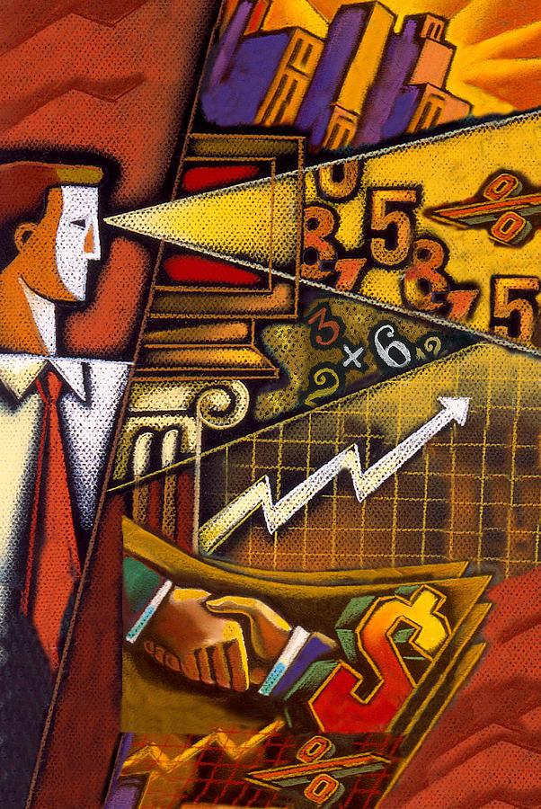 Investor Painting by Leon Zernitsky
