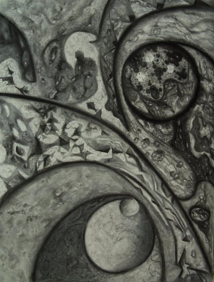 Abstract Drawing - Invisable World by Terry Jackson