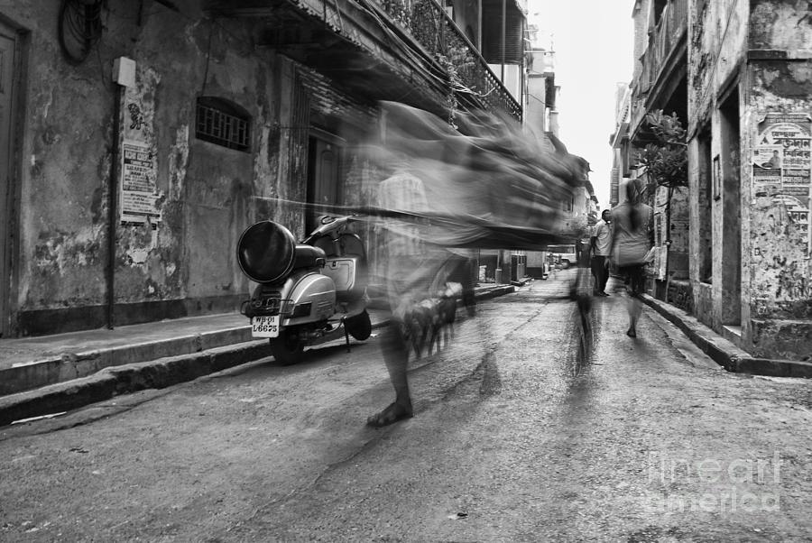 Rickshaw Photograph - Invisible Rickshaw Puller by Soumya Shankar Ghosal