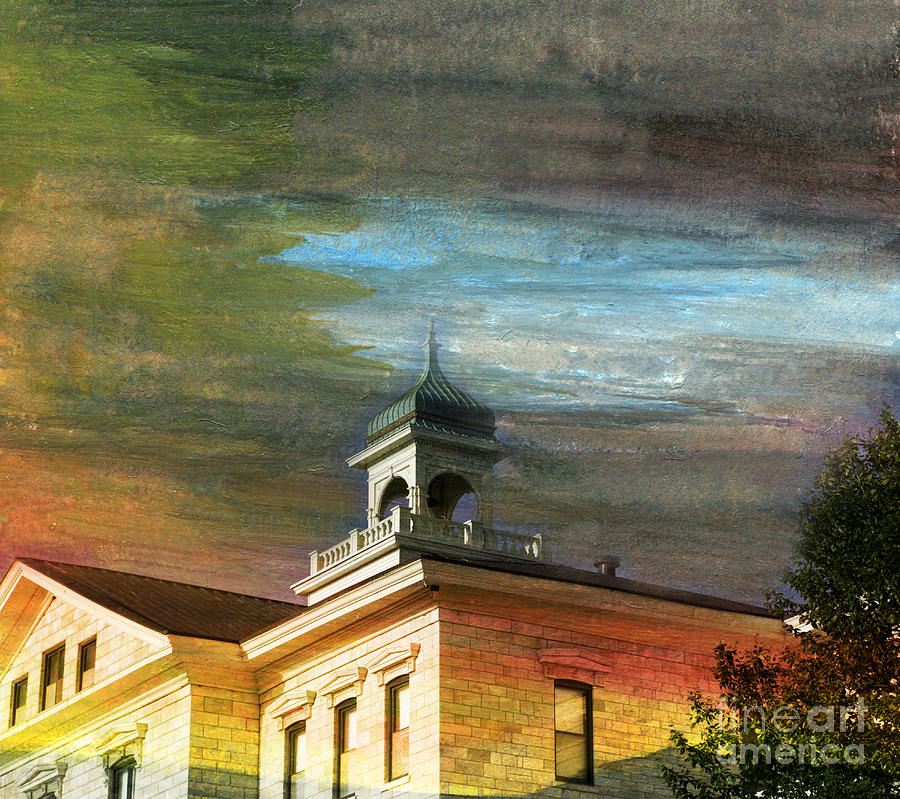 Iowa Braille School Painting by R Kyllo
