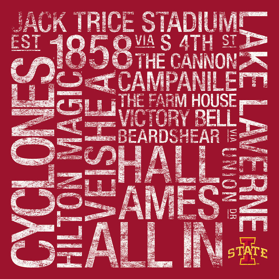 Photo Photograph - Iowa State College Colors Subway Art by Replay Photos