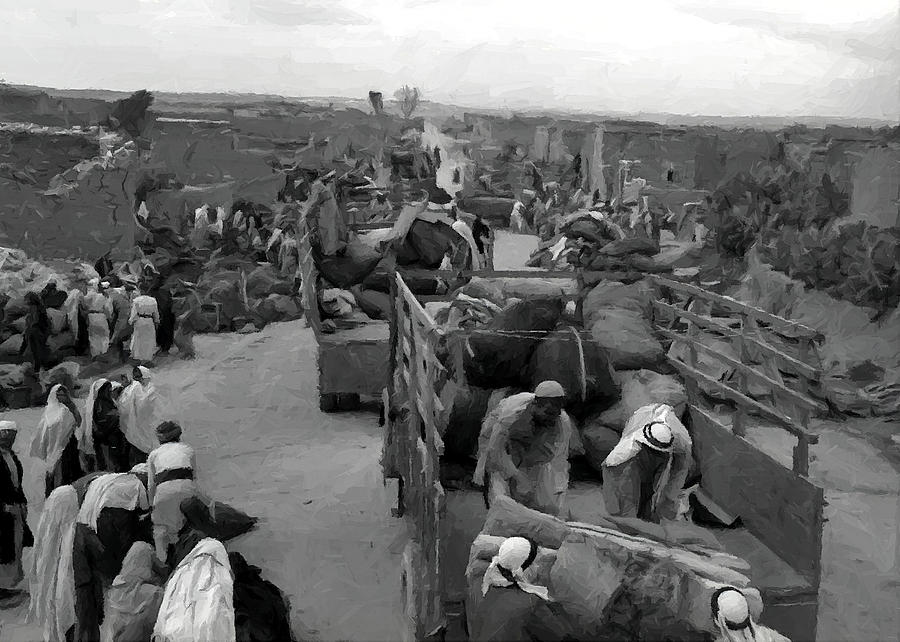 Evacuation Photograph - Iraq Al Manshiyya Evacuation 1948 by Munir Alawi