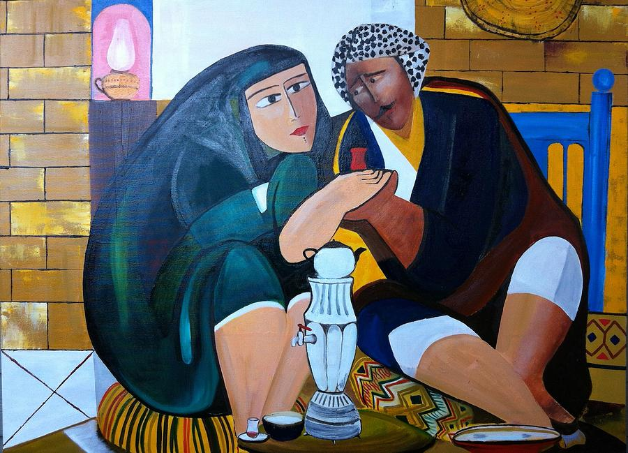 East Painting - Iraqi Tea by Rami Besancon