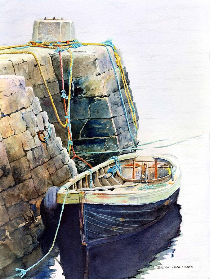Boat Painting - Ireland Boat by Brenda Beck Fisher
