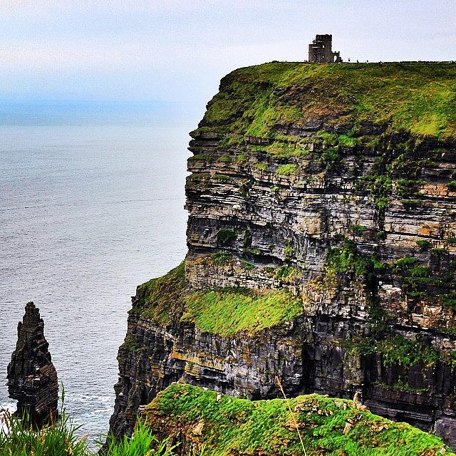Nature Photograph - #ireland #cliffsofmoher #landscape by Luisa Azzolini