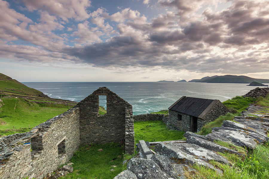 Building Photograph - Ireland, County Kerry, Slea Head Drive by Walter Bibikow
