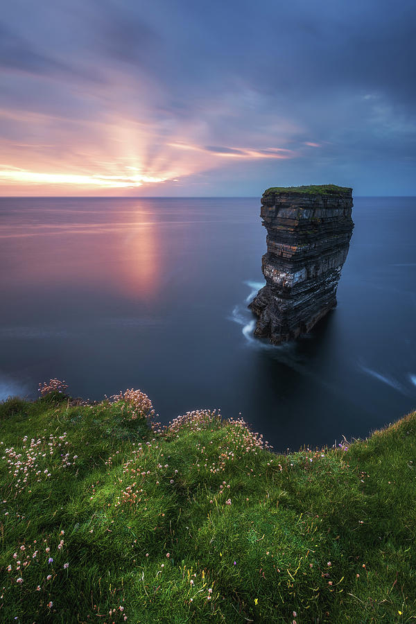 Ireland Photograph - Ireland - Downpatrick Head by Jean Claude Castor