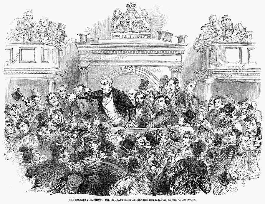 1857 Painting - Ireland Election, 1857 by Granger