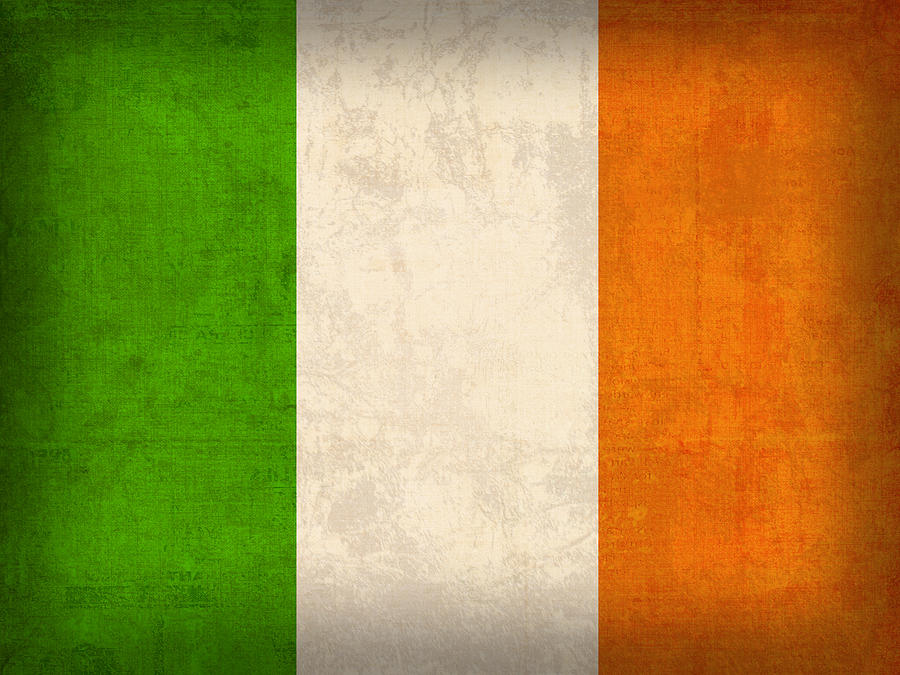 Ireland Flag Vintage Distressed Finish Mixed Media by Design Turnpike