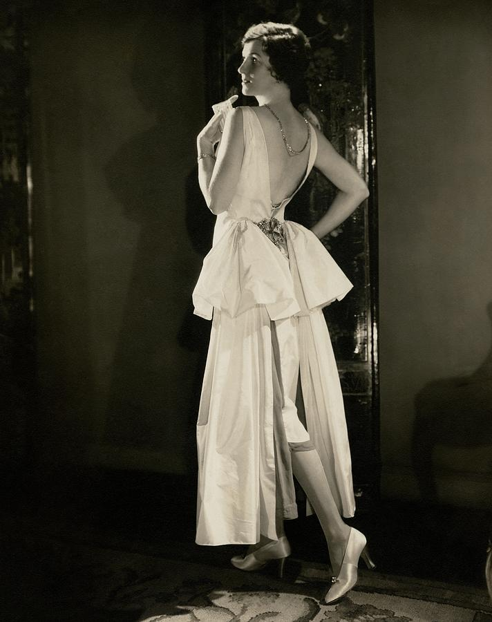 Irene Castle Wearing A Satin Dress Photograph by Edward Steichen