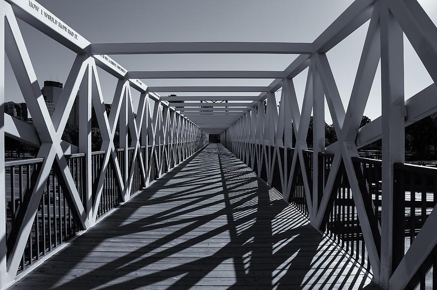 Bridge Photograph - Irene Hixon Whitney Bridge  Mono by Rachel Cohen