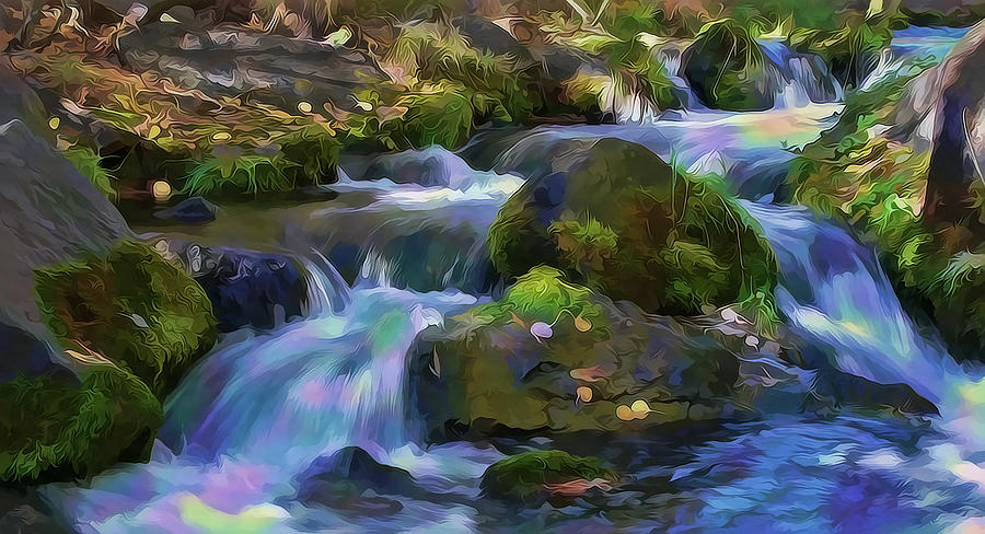 Iridescent Creek by Frank Lee Hawkins by Frank Lee Hawkins