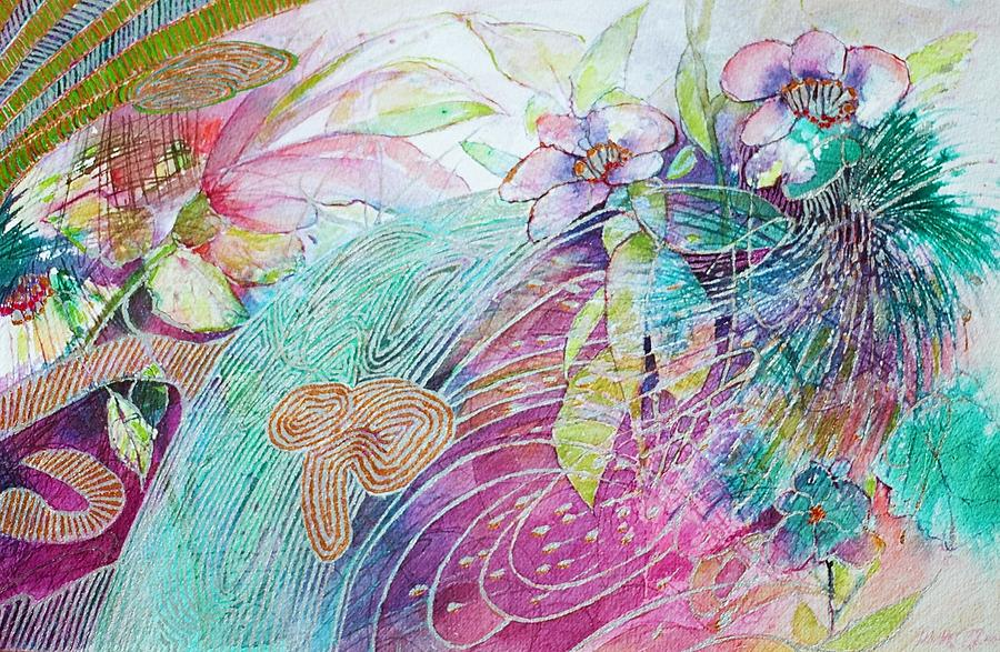 Flowers Painting - Iridescent Fairytale by J Michael Orr
