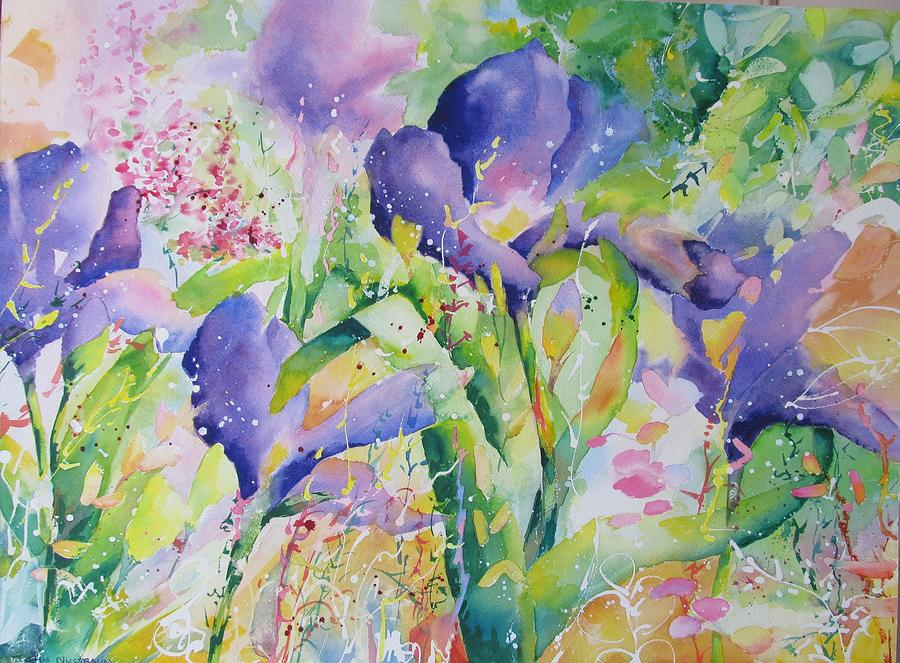 Abstract Paintings Painting - Iris And Friends by John Nussbaum