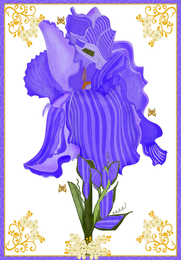 Iris Painting - Iris And Old Lace by Anne Norskog