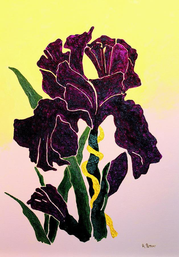 Iris Painting - Iris by Andrew Petras