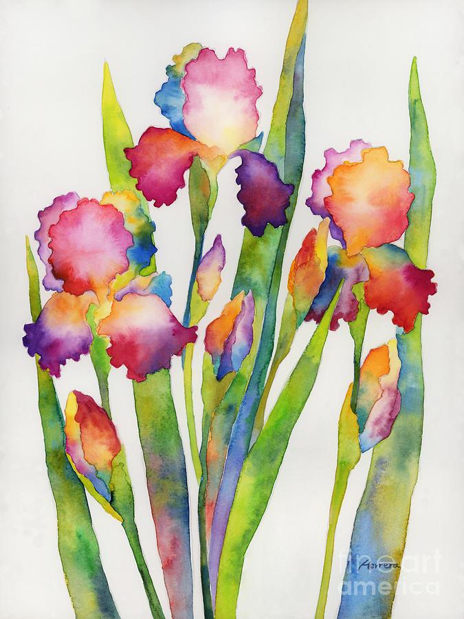 Iris Elegance Painting