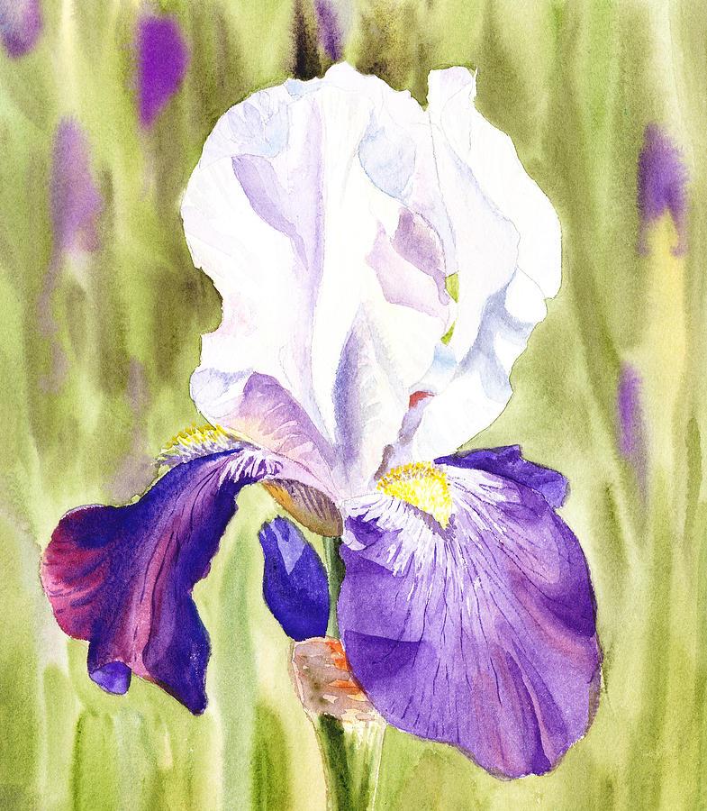 Iris Painting - Iris Flower Purple Dance by Irina Sztukowski