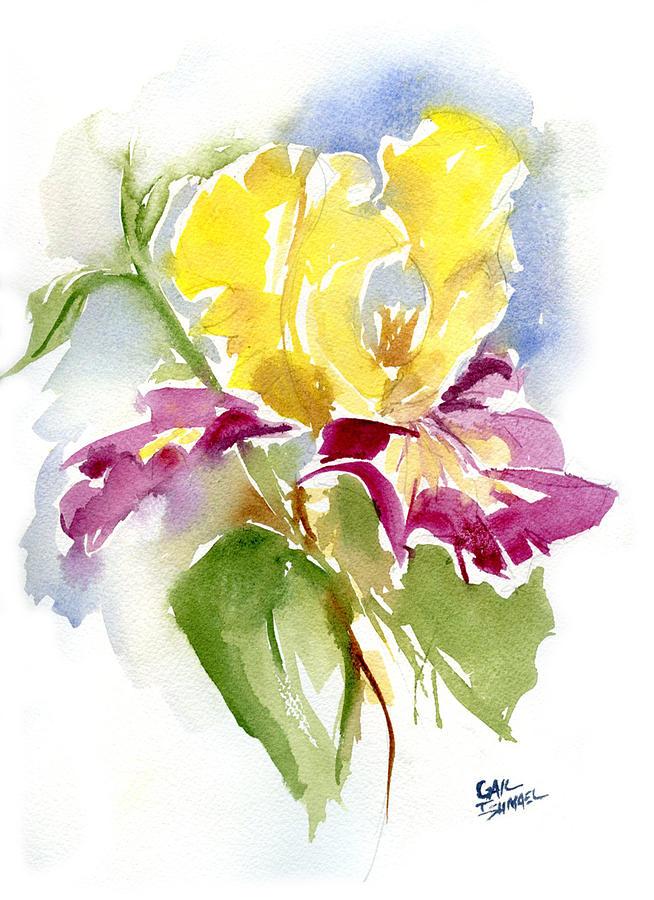 Iris Painting by Gail Ishmael