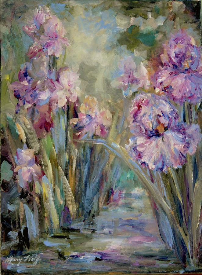 Iris Garden by Mary Wolf