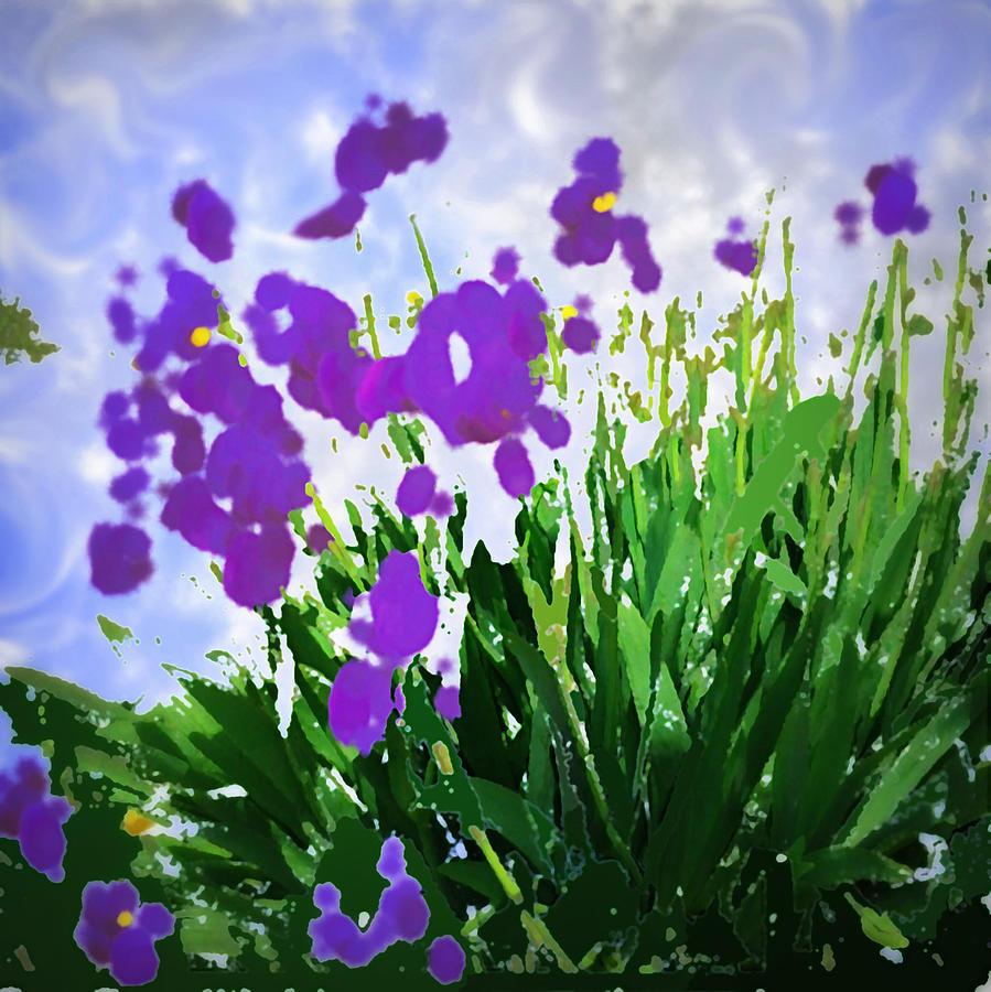 Iris Photograph - Iris by GuoJun Pan