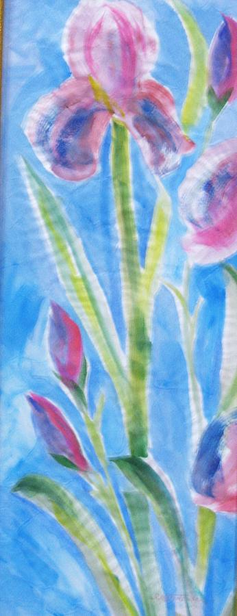 Rice Paper Painting - Iris In The Mist by Sandra Artimowich