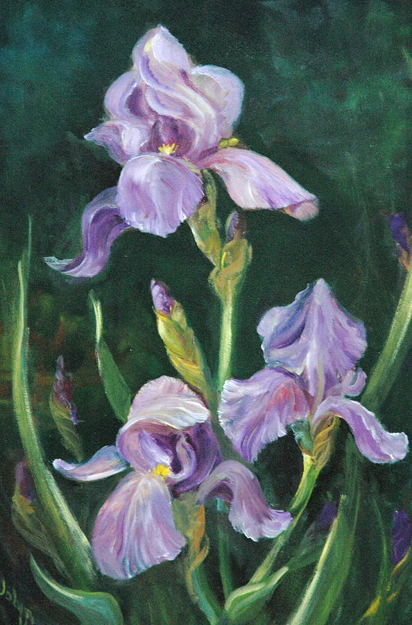 Still Life Painting - Iris by Jolyn Kuhn