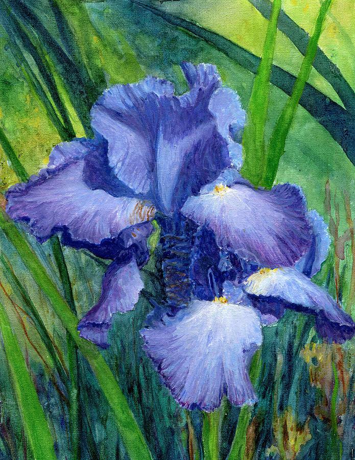 Iris Painting - Iris by June Hunt