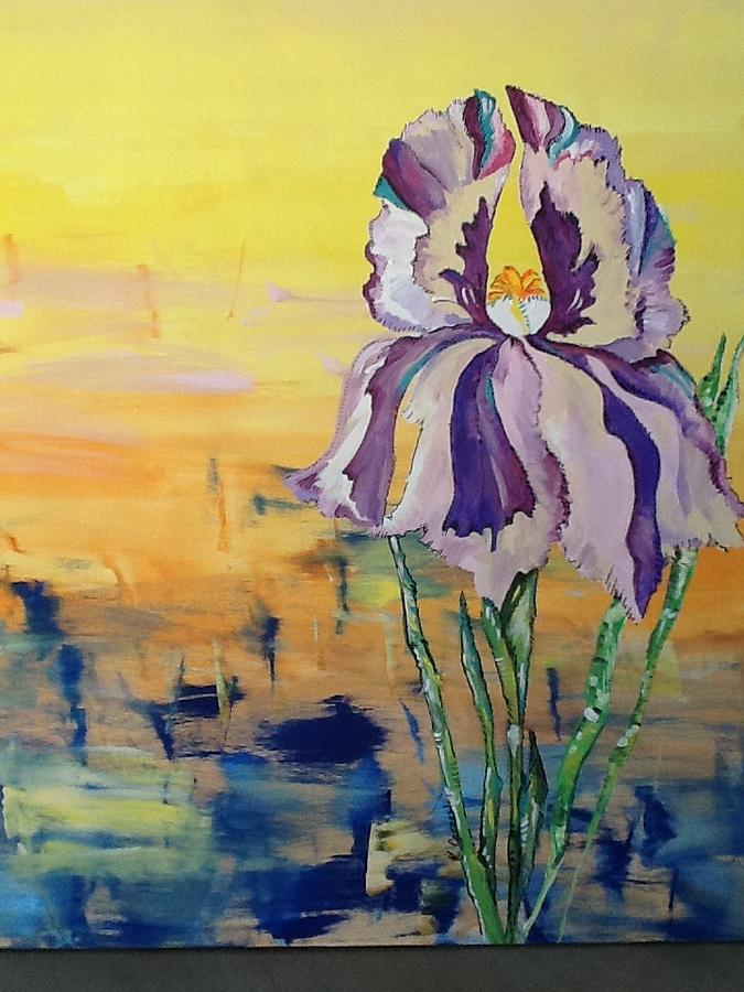 Flower Painting - Iris by Karen Carnow