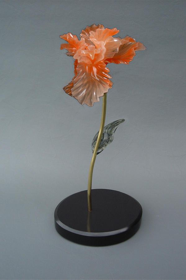 Iris Sculpture - Iris by Leslie Dycke