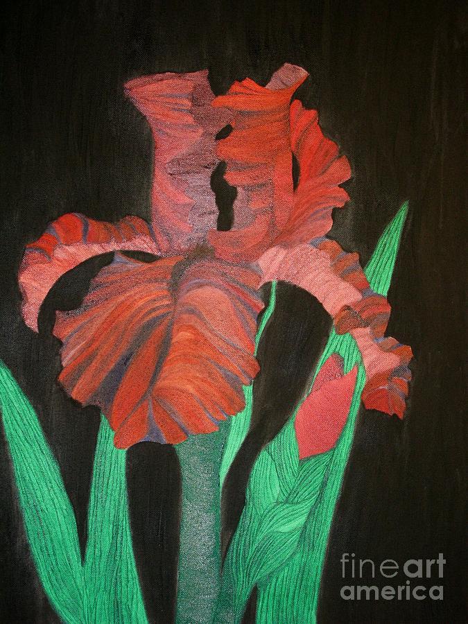 Iris Painting - Iris by Richard Dotson