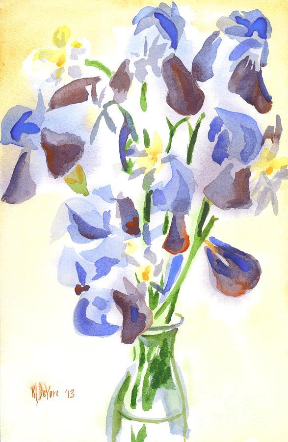 Irises Painting - Irises Aglow by Kip DeVore