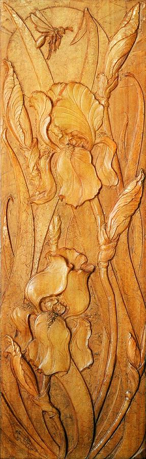 Irises Sculpture - Irises Koto-ku by Jeremiah Welsh