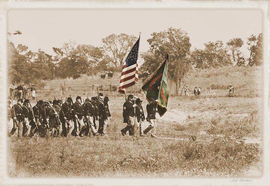 Civil War Photograph - Irish Brigade by Judi Quelland