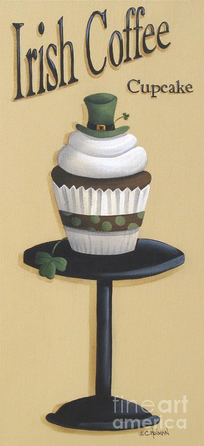 Cupcake Painting - Irish Coffee Cupcake by Catherine Holman