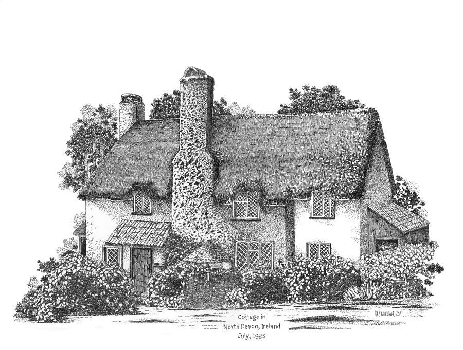Irish Cottage In Ireland Drawing By Kaz Ayukawa