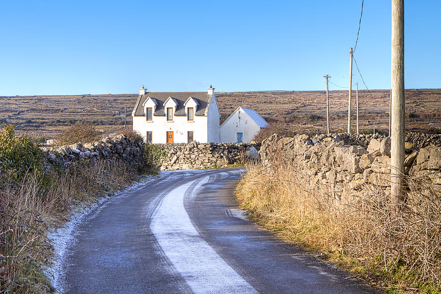 Aran Islands Photograph - Irish Cottage On Isle Of Inis Mor by Mark Tisdale
